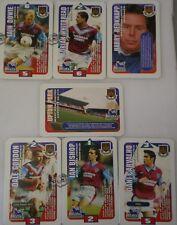 WEST HAM UNITED SUBBUTEO SQUADS FOOTBALL CARDS 1996 Hasbro TRADING CARDS x 7