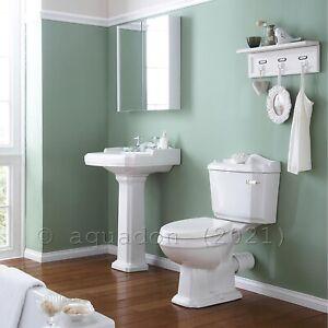 Traditional Toilet WC Basin Pedestal Basin 4 Piece Victorian Suite