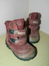 infant Ecco burgundy gore-tex mid calf boots with fasteners uk 5 eur 21