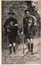 GENOVA-  Globe trotter italiano  1924 sponsorizzato da estratto carne PISONIS