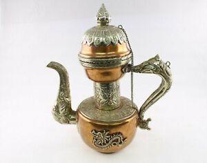 Copper Metal Indian Dragon Teapot