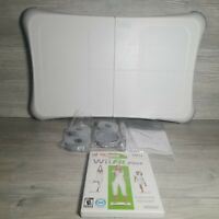 Wii Fit Balance Board Nintendo Exercise Fitness Tested w Wii Fit Plus Game CLEAN