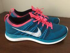 Nike Flyknit One+ Blue, Pink, White, Black 554887-414 Men's Size 12 EUC