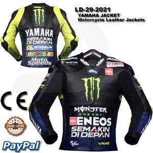 Monster YAMAHA Motorbike Motorcycle Rider Leather Jacket LD-29-2021 ( US 38-48 )