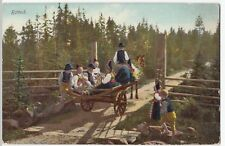 Sweden; Rattvik , Group in Traditional Costume On Cart PPC, Unposted by Eliasson