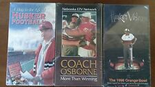 Husker videos set of 3, a day on the life, coach Osborne, 1998 orange bowl