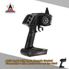AUSTAR AX5S 2.4G 3CH AFHS Radio Transmitter + Receiver for RC Car Boat