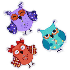 50pcs Cartoon Owl Animal Wood Sewing Buttons 2 Holes DIY Buttons For Kids Baby