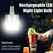 120-220w Outdoor Hanging Lamp Rechargeable LED Night Light Bulb Battery Powered