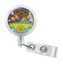 SCOOBY DOO, The Mistery Machine Retractable Badge Reel Holder, Epoxy 3D Dome
