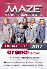 Maze & Frankie Beverly 2017 Houston Concert Tour Poster - R&B Soul Music Legends