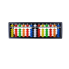 Portable Plastic Colorful Beads Abacus Arithmetic Soroban Calculating Tool FF