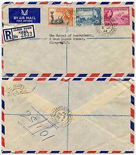 GOLD COAST JAMESTOWN REGISTERED AIRMAIL 1956 to SCOTLAND