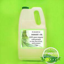 7 LB / ONE GALLON BABASSU OIL  PURE   ORGANIC
