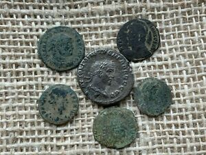 Late AE Roman Coins x 6 UNRESEARCHED      T10