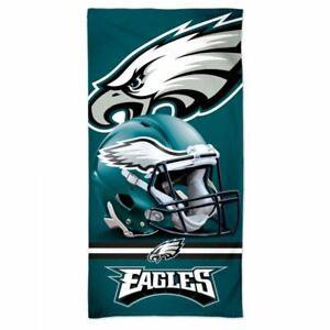 "PHILADELPHIA EAGLES SPECTRA BEACH TOWEL 30""X60"" COTTON PLUSH NFL LICENSED"