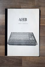 Manual Handbook Schematics AHB ALLEN & HEATH mixers SR8 SR16 SR24 SR416 SR424