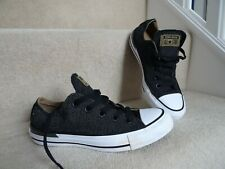 CONVERSE ALL STAR BLACK AND WHITE TRAINERS FLAT SHOES SIZE 4 WORN FEW TIMES