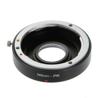 Nikon F Lens to Pentax K PK Mount Camera Adapter Ring with Glass Focus Infinity