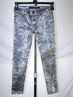 Joe's Gray Snake Skin Print Wet Look Skinny Leg Jeggings Pants Girls Youth Sz 6X