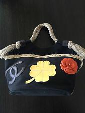 Chanel handbag Canvas suede very rare ! great for spring/summer