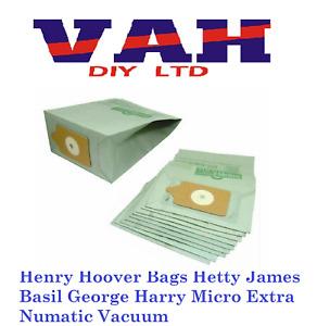 Henry Hoover Bags Hetty James Basil George Harry Micro Extra Numatic Vacuum