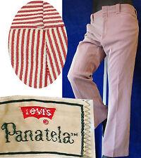 LEVIs Panatela VINTAGE 38 pant seersucker red golf clown flare stripe 60s 70s l