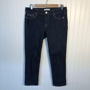 White House Black Market Jeans Straight Leg Crop Dark Wash Womens Size 6