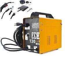 MIG 130 Welder Flux Core Wire Automatic Feed Welding Machine w/ Mask 110-220V US