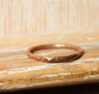 Copper Ring Stackable Hammered Rings band Size 12.50 Wedding Promise Ring Unisex