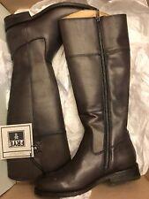 Frye Womens Boots Size 7 Jayden Button Tall Dark Gray Leather Zipper New Box