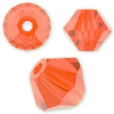 Swarovski Crystal Bicone Hyacinth Color. 6mm. Approx. 48 PCS. 5328