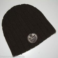 Edmonton Oilers Knit Winter Hat Beanie Tuque Hockey Black Adult Men's Youth's