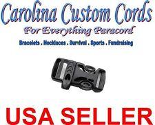 "(25) 5/8"" Emergency Survival Side Release Whistle Buckles  Paracord Bracelet 5/8"