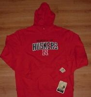 Nebraska Cornhuskers Hoodie Hooded Sweatshirt Reebok NCAA Embroidered Logos
