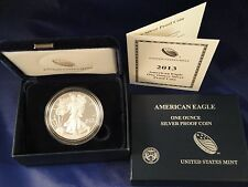 2013-W 1 oz Proof Silver American Eagle (W/Box & COA)