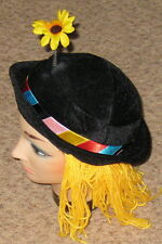 Rubies Multicolor Clown Hat w Flower Halloween Costume Accessory