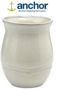 Anchor Hocking 97590 Cream Stoneware Utensil Holder 17cm Kitchen Accessories