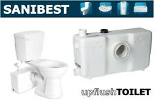 Saniflo SaniBEST | Macerating Upflush Toilet Kit | Pump + Elongated Bowl