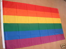 RAINBOW GAY LESBIAN GREENPEACE FLAG FLAGS 5'X3' NEW POST FREE IN UK