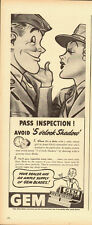 1940's Vintage ad for GEM Razor Blades/Pass Inspection! Miltary Art (050813)