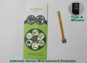 babiwa series No.1 TypeA Minisimcard to Minisimcard Simcard Extension Cable