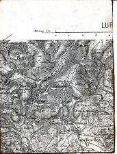 70 Planchet-les-Mines 1889 carte d'état major orig (partie) Auxelles-Haut et Bas