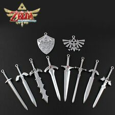 10pcs Set The Legend of Zelda Weapon Sword & Badge Pendant Cosplay NO Box
