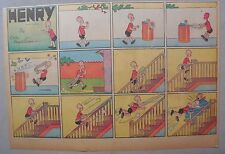 (43) Henry Sunday Pages by Carl Anderson from 1940 Half Page Size!