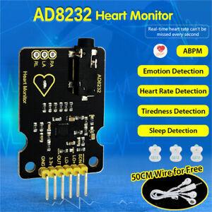 KEYESTUDIO AD8232 ECG Pulse Heart Rate Measurement Monitor Sensor for Arduino EU