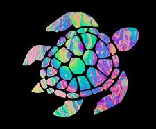 """Sea Turtle Psychedelic Colors Decal for Insulated Cup 20oz / 30oz *** 3"""" X 3"""""""
