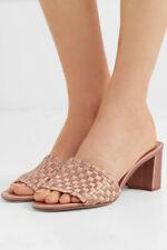 Pedro Garcia Xian Woven Satin Heel Sandals Size 40