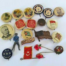 New listing Antique Vintage Pinback Pin Advertising Shoe Flag Prince Junk Drawer 21 Pce. Lot