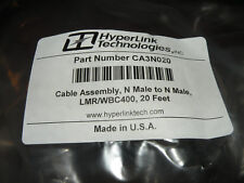 Hyperlink Technologies 400 Series Cable Assembly N Male - N Male 20' CA3N020